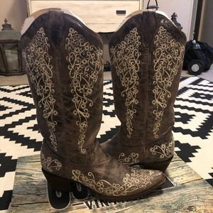 Corral Vintage Boot with Bone Embroidery